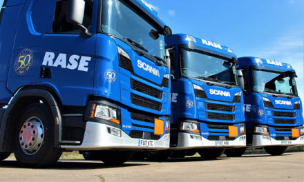 Eight new Scania trucks for Rase Distribution Limited