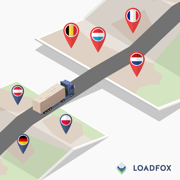 LoadFox on course for Europe with maps of the PTV Group