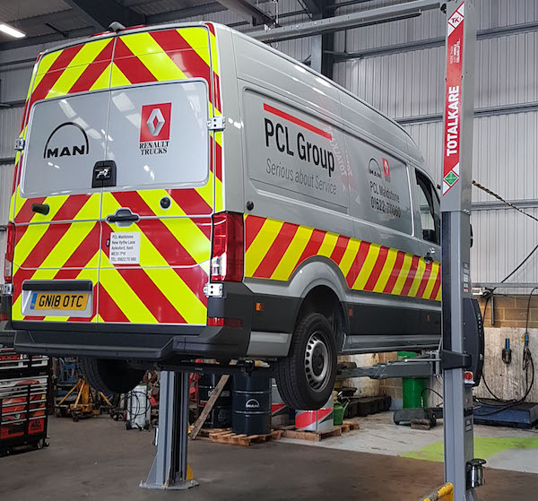 PCL Group upgrades Maidstone service centre with TotalKare vehicle lifts investment