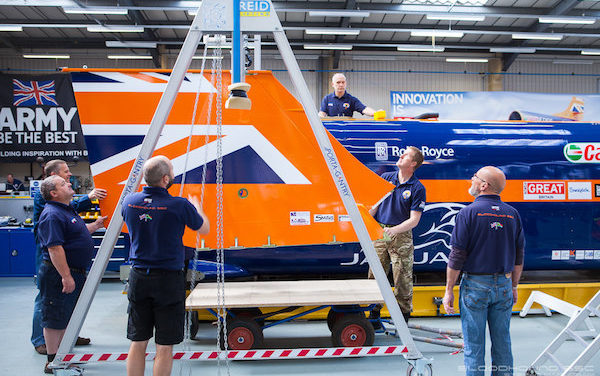 Reid Lifting Gantries Keep Bloodhound World Record On Track