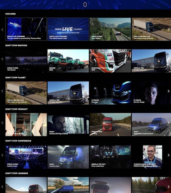Iveco S.p.A.Via Puglia 3510156 Turin, Italywww.iveco.comIVECO takes the lead withIVECOLIVECHANNEL, the new broadcast platform dedicated to the world of transport
