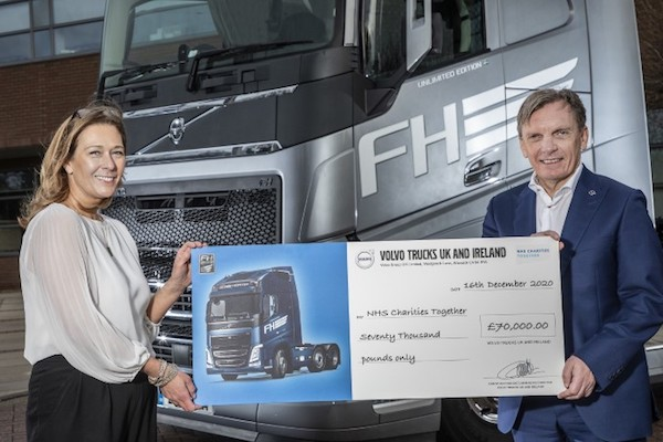 SALES  OF  VOLVO'S  FH  UNLIMITED  EDITION RAISE  £70,000  FOR  NHS  CHARITIES TOGETHER