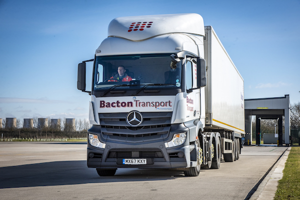 Bacton Transport chooses trucks from Ryder with collision cover