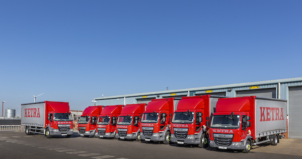 Ketra Logistics partners with Ryder for its new DVS-compliant trucks