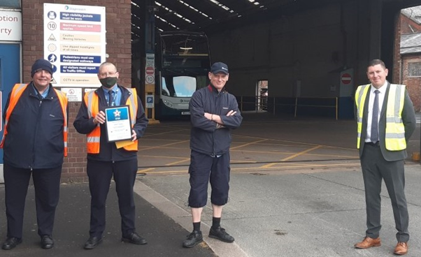 THREE STAGECOACH MANCHESTER DRIVERS PRAISED FOR HEROIC ACTIONS